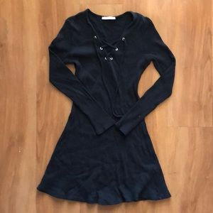 Zara lace up dress in black